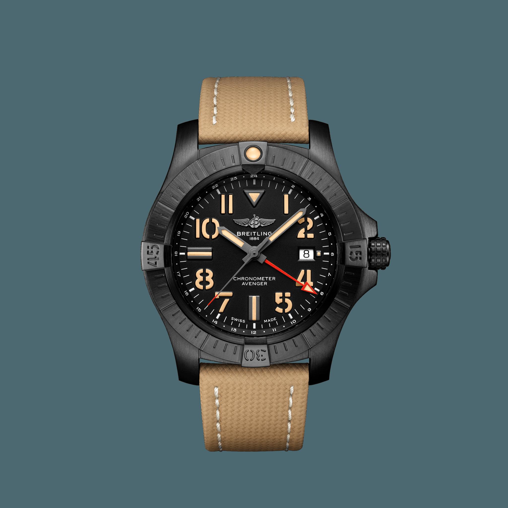 ブライトリング アベンジャー オートマチック GMT 45 ナイト ミッション