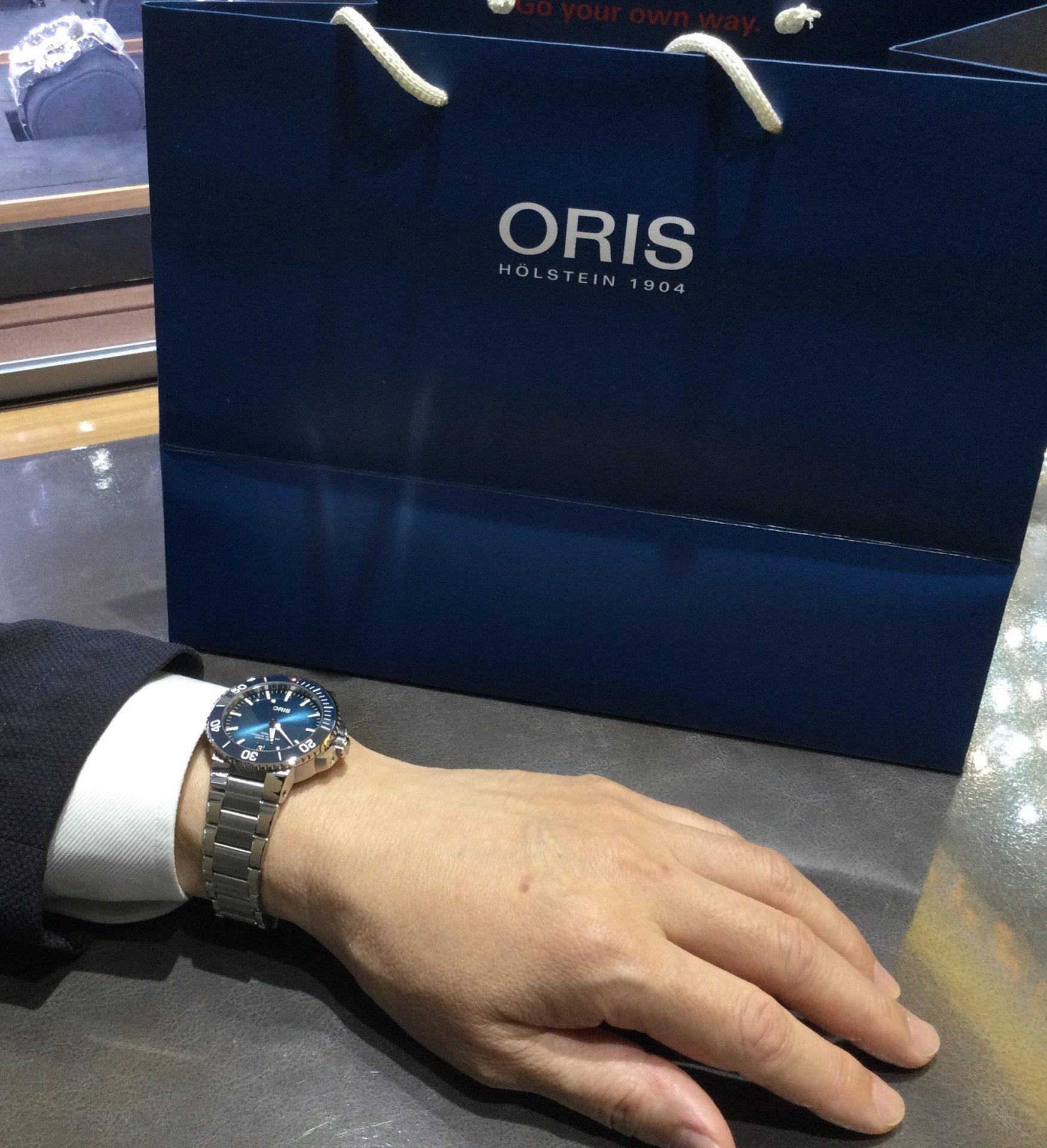 オリスのお時計をお買い上げ頂きまして、有難うございます!-画像1